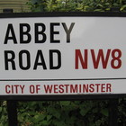 Street sign for abbey road in westminster london england img 1461