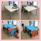 Tenda da tavolo capanna lenzuolo giocare sotto tavola casa sequenza
