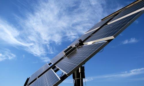 Solarzelle im Einsatz