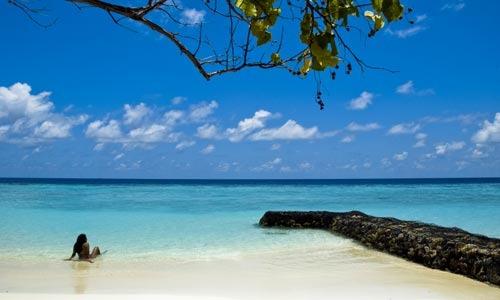 Ein Traumstrand auf den Malediven