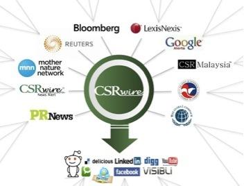 csrwire google bloomberg