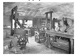 British Engineer James Watt's workshop