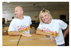 Volunteers at Campbell Soup