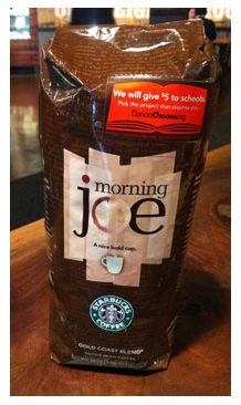 Starbucks partners with DonorsChoose.org