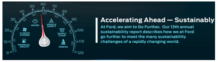 Accelerating Ahead: Sustainability at Ford Motor Company