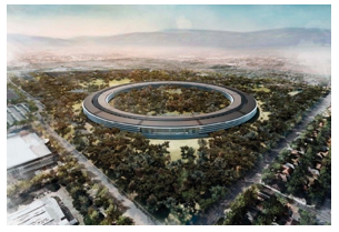 Apple's propsed donut-shaped headquarters