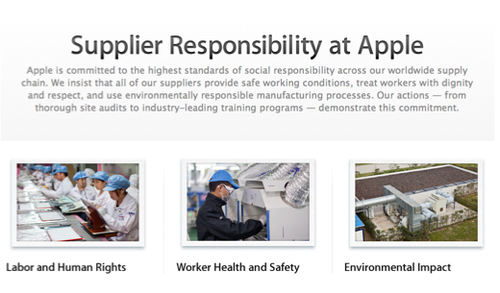 Supplier Responsibility at Apple