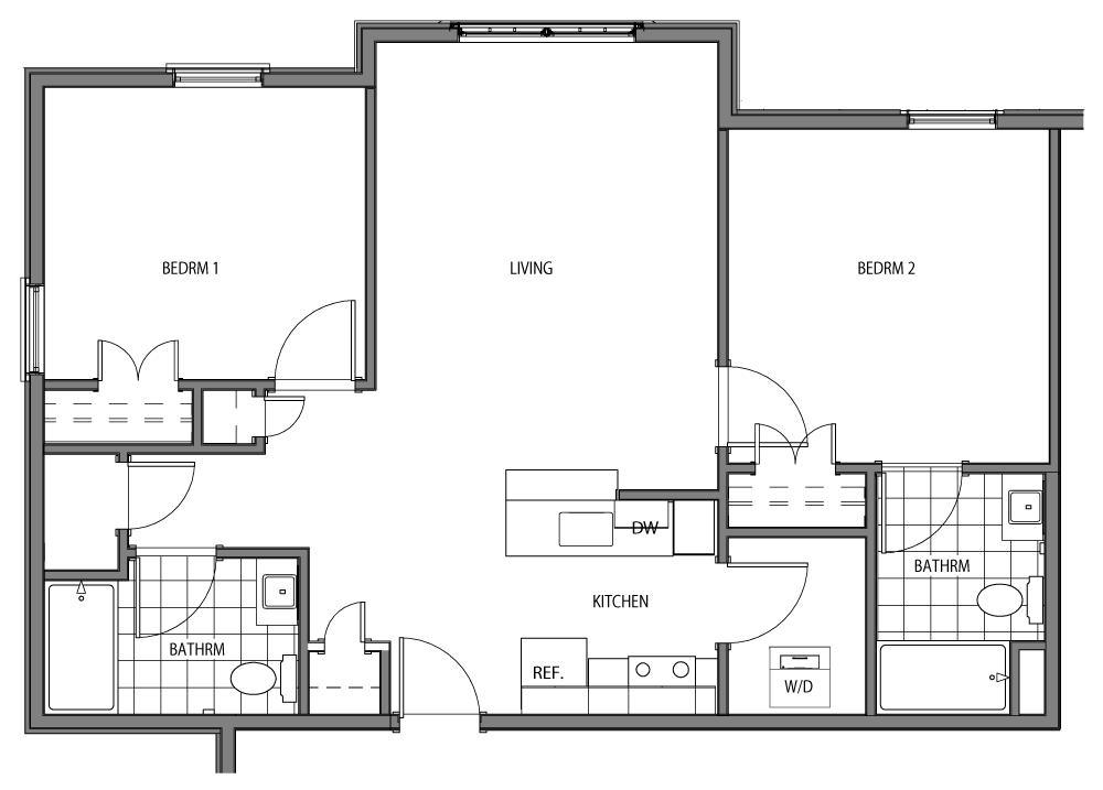 Tomlinson (2 Beds / 2 Baths)
