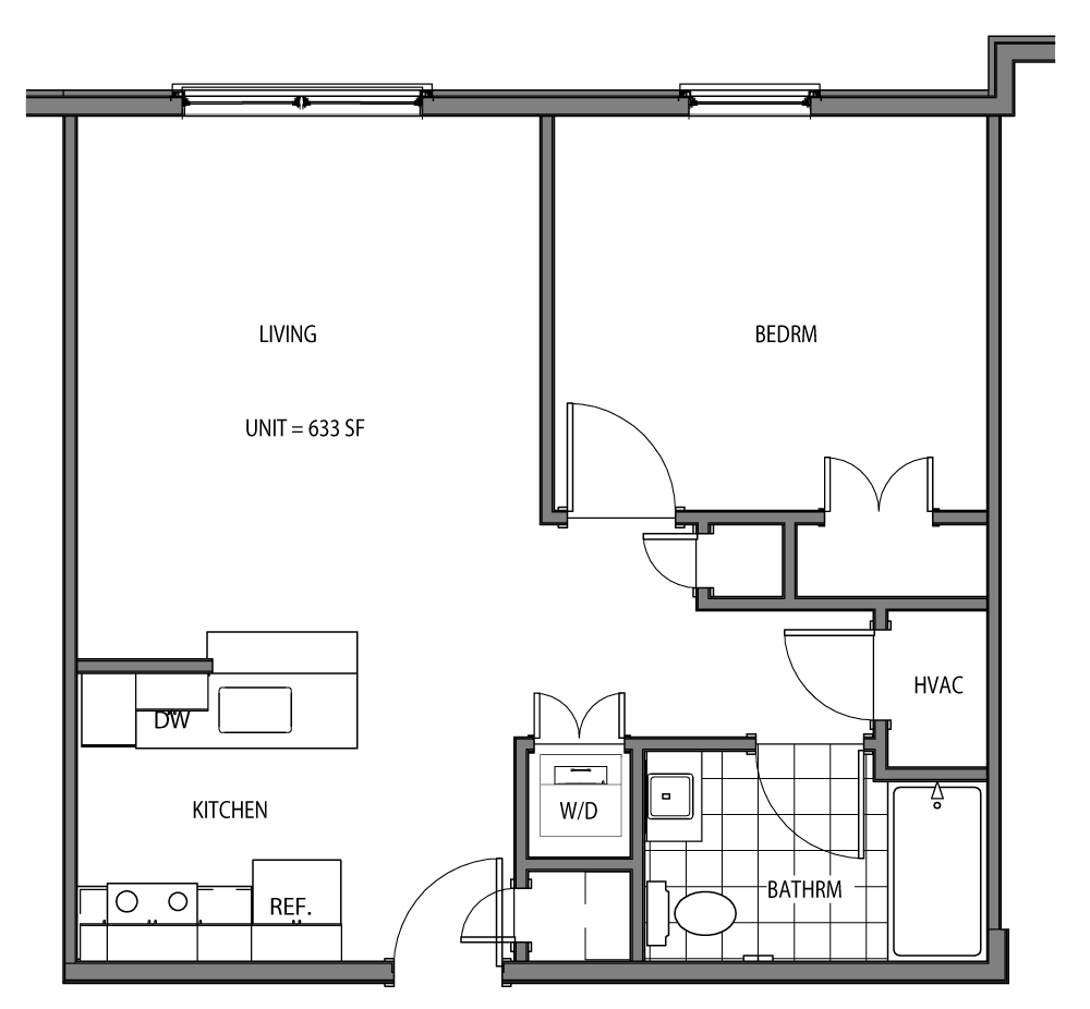 Osborn (1 Bed / 1 Bath)