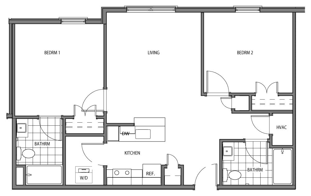 Roebling (2 Beds / 2 Baths)