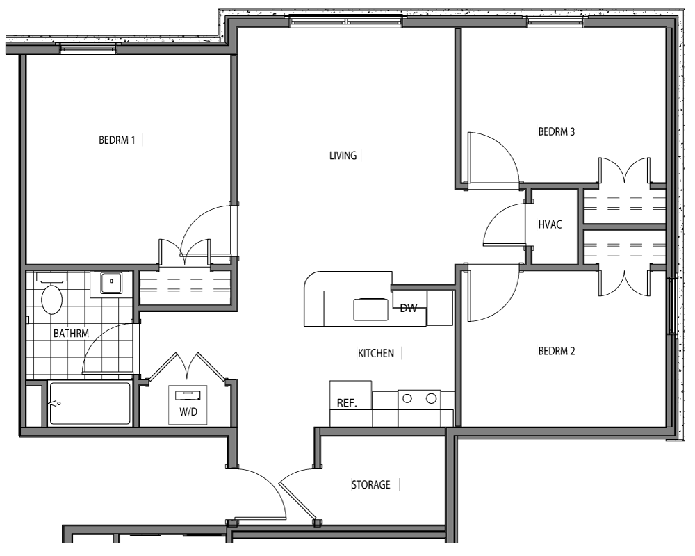 Ferris (3 Beds / 1 Bath)