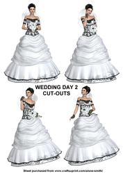 Wedding Day 2 Cut-outs