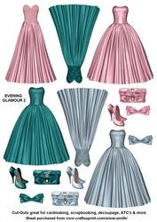 Evening Glamour Cut-outs 2