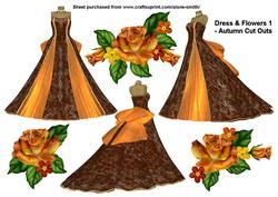 Dress & Flowers 1 - Autumn Cut Outs