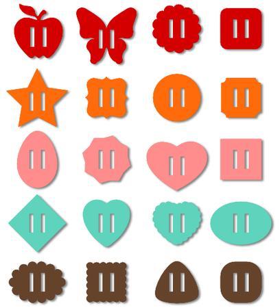 20 Ribbon Sliders - Buckles Set _svg File