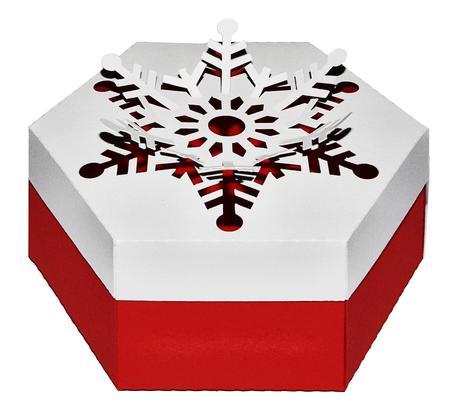 Cutout Snowflake Box - SVG Cutting File