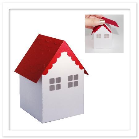 3D House Box SVG, DXF, PDF Files