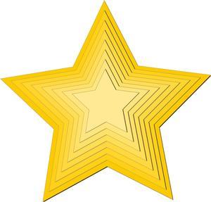 Nested Stars - SVG File