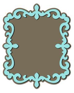 Fancy Ornate Frame 1 and Mat - SVG File