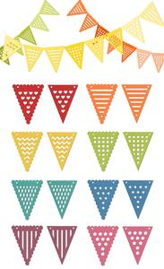 16 Pennant Banner Bunting - SVG File