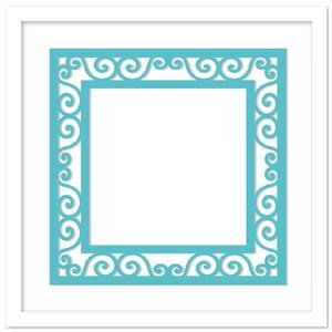 Decorative Scrolls Frame SVG, DXF, PDF Files