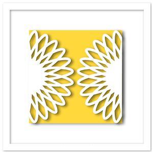 Sunflower Gate Fold Cut Out Card SVG, DXF, PDF