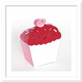 3D Cupcake Cherry on Top Favour Box Template, SVG PDF DXF