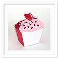 3D Cupcake Heart on Top Favor Box Template, SVG, PDF, DXF