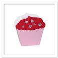 3D Cupcake Favor Box, Bag, Basket Template, SVG DXF PDF
