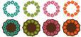 4 Circular Floral Frames + Mats - SVG