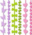 Heart, Butterfly, Ribbon Bow Borders Set 2