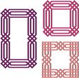 3 Geometrical Mosaic Frames SVG