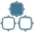 3 Way Ornate Swirls Frame and Mat Set 6 - SVG File
