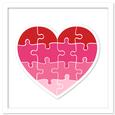 Heart Puzzle / Jigsaw - SVG, DXF, PDF Cutting Files