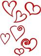 Valentine's Hearts Set - SVG File
