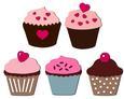 Cupcake Set - Mix and Match - SVG File