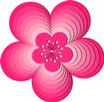 Nested Flowers 4 - SVG File