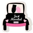 Wedding Car Shaped Card Template - SVG File
