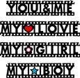 Grunge Film Strip Words Title - Borders Set 1 - SVG File
