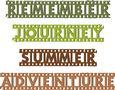 Grunge Film Strip Words Title - Borders Set 3 - SVG File
