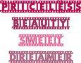 Grunge Film Strip Words Title - Borders Set 4 - SVG File