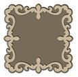 Fancy Ornate Frame 2 and Mat -SVG File