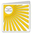 Square Sunshine Card Template - SVG File