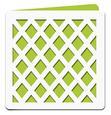 Lattice Square Card Template - SVG File