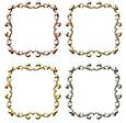 Metallic Ornate Frames Set 1 - Png