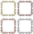 Metallic Ornate Floral Frames Set 6 - Png