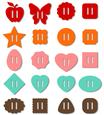 20 Ribbon Sliders - Buckles Set _svg File