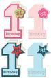 First Birthday Baby Boy & Baby Girl Card-tag Set - SVG File
