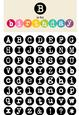 Typewriter Alphabet Set - Capital and Small Letters _ Png