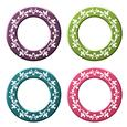 Elegant Metallic Floral Frames - Circle Set 2